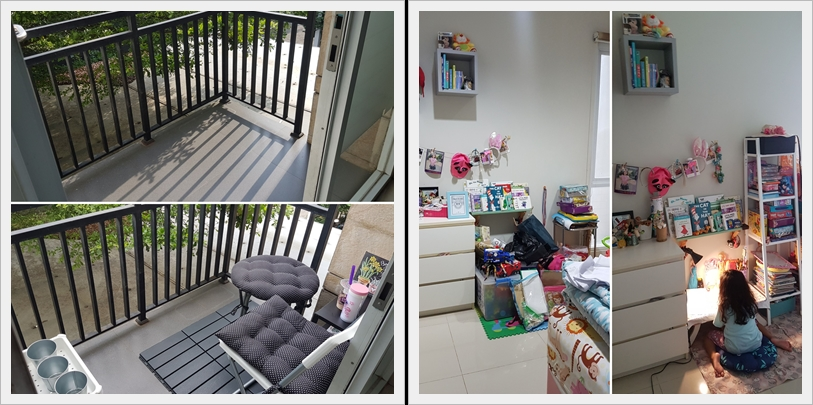 My Balcony and The Kid's Study Room (Before-After)